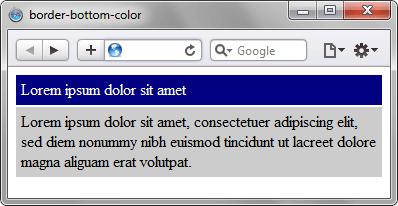 Применение свойства border-bottom-color