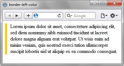 Результат использования border-left-color