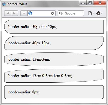 Радиусы скругления в браузере Safari
