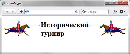 Применение псевдокласса :nth-of-type к изображениям